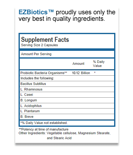 EZBiotics ingredients